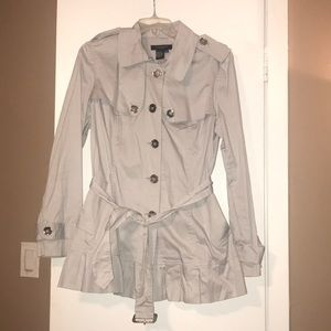 Light gray trench coat
